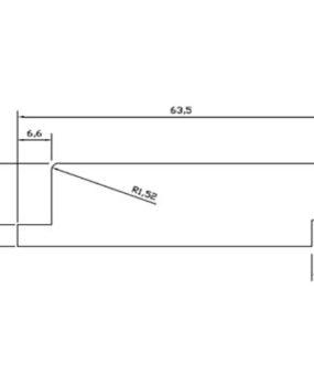CHATA 65X20 C/REBAJE (MI288)