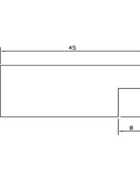 CHATA 45 X 18 (MI271)