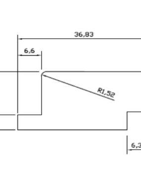 CHATA 40 X 20 CRUDA C/REBAJE (MI287)